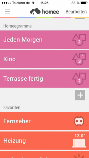 "Abb. 1: Profile in der SmartHome-App ""Homee""."