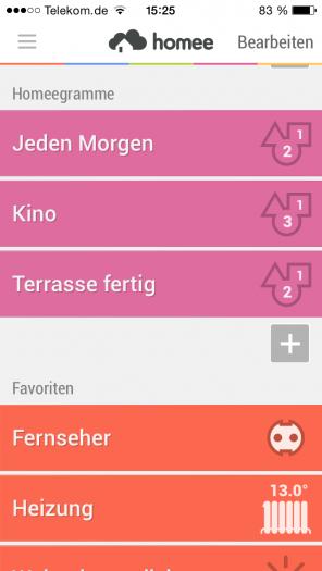 "Abb. 1: Profile in der SmartHome-App ""Homee""."