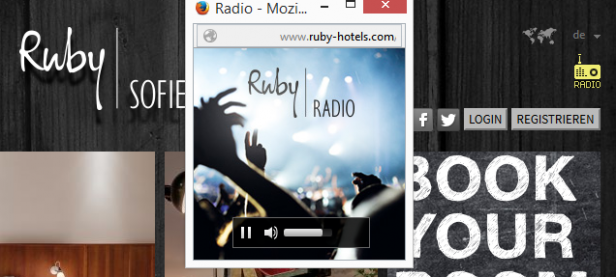 Abb. 1: Einbindung eines Web-Radios