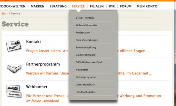 Website globetrotter.de