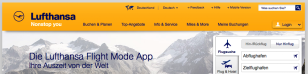 Header Website lufthansa.com