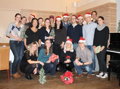 Aktuelles, fast vollständiges eResult-Team (Weihnachtsfeier/Teamtage 2014)