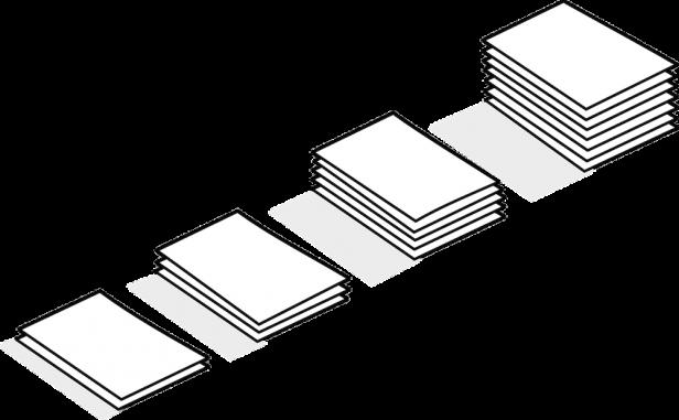 Symbolische Papierstapel