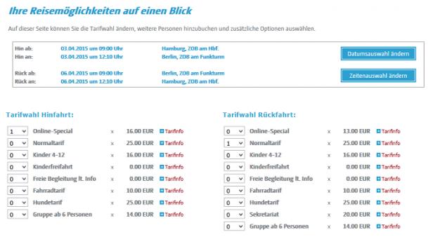 Abb. 5: berlinlinienbus.de - Angabe der Personenanzahl im 3. Prozessschritt