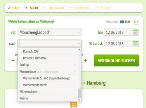 Abb. 7: Fehlertoleranz am Beispiel MeinFernbus.de