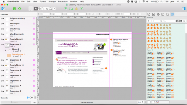 Screenshot OmniGraffle