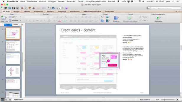 Screenshot PowerPoint