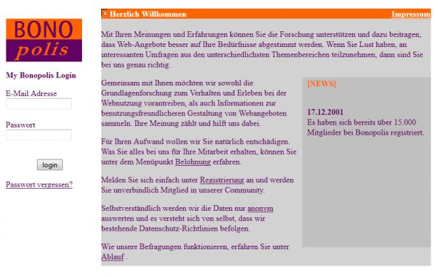 eResult Online-Panel bonopolis.de (Startseite 2002, über http://web.archive.org)