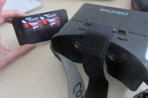Günstiges Einsteiger Modell: Die ColorCross-Brille als Halterung für das Smartphone