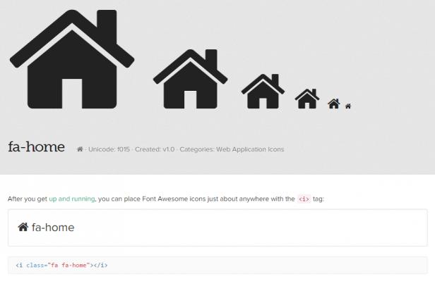 Iconfonts sind frei skalierbar und einfach einzubinden (hier: FontAwesome)