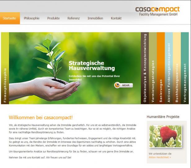 Abb. 2: Vergleichen Sie mal, welche unterschiedlichen Emotionen diese Websites bei Ihnen erwecken. Hier: casacompact.de