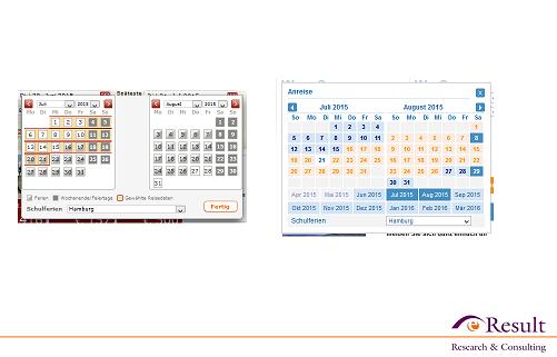 Abb. 4: Zu viele Informationen können die Kalenderübersicht schmälern