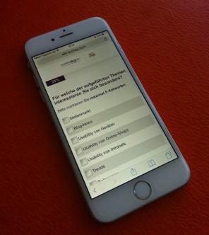 Unsere Nutzerbefragung 2015 für Sie auch responsive über alle Ihre mobile Endgeräte verfügbar.