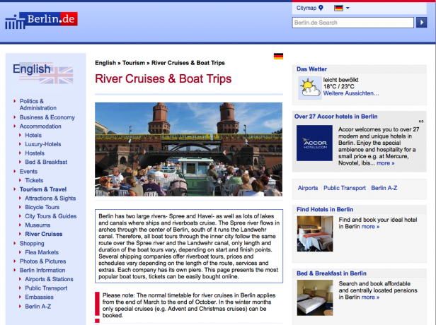 Screenshot Website berlin.de