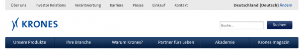 Screenshot Krones.com