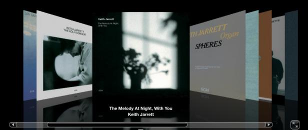 Screenshot Cover Flow iTunes