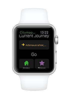 Die Strecke wurde auf dem iPhone berechnet und kann direkt auf die Watch übertragen werden.