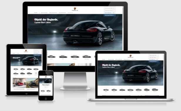 Consistent Design: Die responsive Website von Porsche