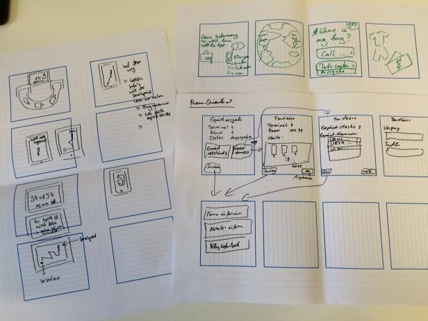 Abb. 2: Beispiele aus einer ersten Iteration einer Design Studio-Session