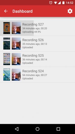 Upload eines Videos bei Lookback