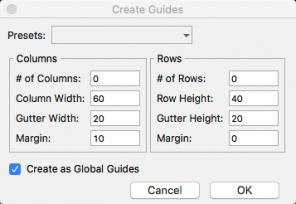 Screenshot Axure Create Guides