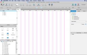 Screenshot Raster mit Führungslinien in Axure