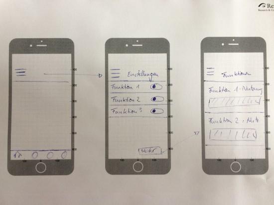 Entwürfe einer konfigurierbaren Remote-App