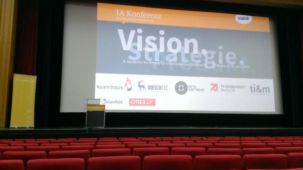 Morgens im Hörsaal der IA Konferenz 2016