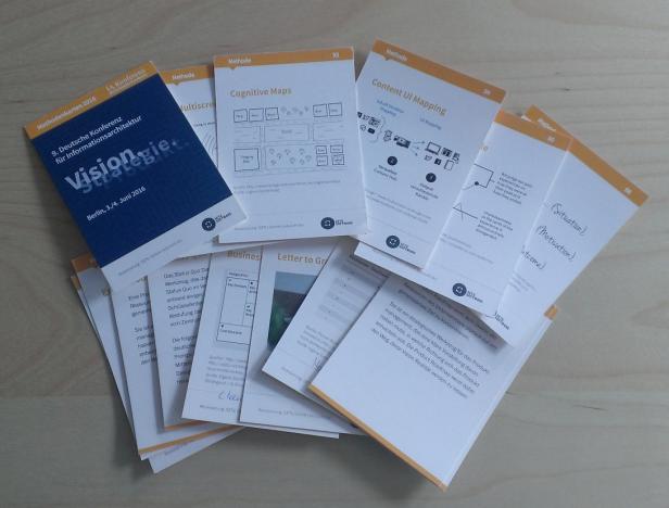 """Methodenkärtchen: Wer hat noch """"Design Sprint"""" und """"Stakeholder Map"""" zum Tauschen?"""