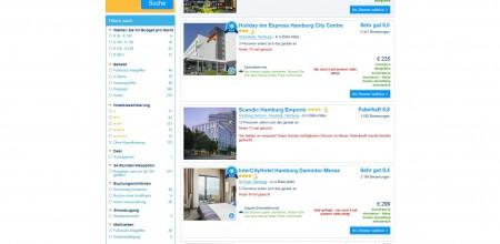 Anzeige bei booking.com zur Verfügbarkeit und täglichen Buchungshäufigkeit