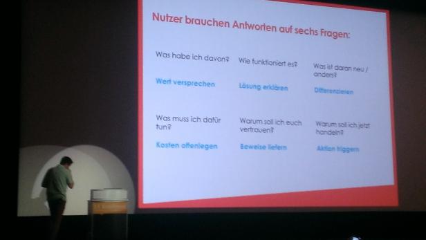 Vortrag zu Wert und Persuasiven Design von Rupert Platz