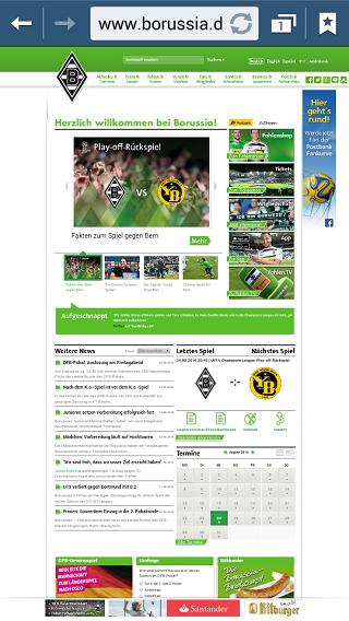 Borussia Nicht-Responsive