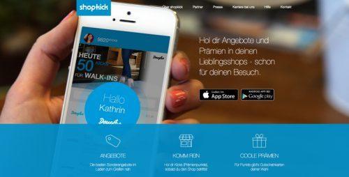 Einführung von shopkick in Deutschland im Oktober 2014
