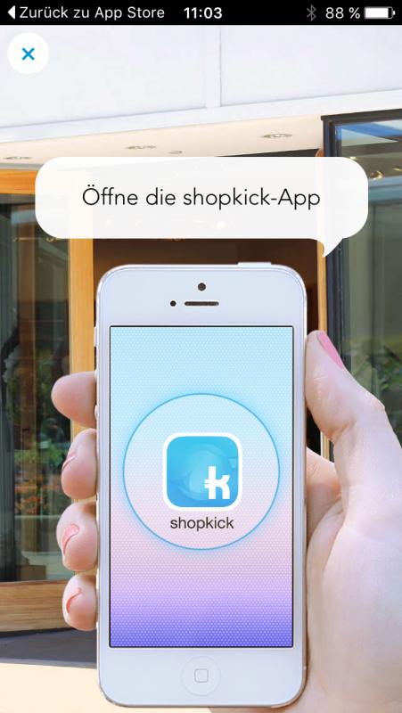 Funktionsweise Walk in Klicks App