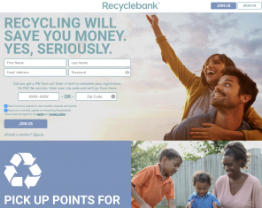 Screenshot Website Recyclebank