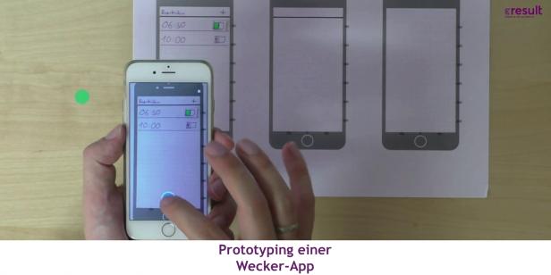 Prototyping einer Wecker-App