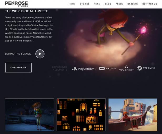 Screenshot Website Allumette