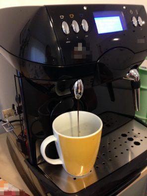 Die Kaffeemaschine funktioniert