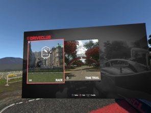 Screenshot Menü Driveclub