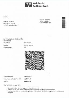 Kundenanschreiben mit QR-Code