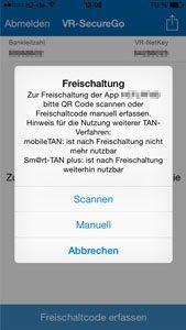 Freischaltung der Bank-App