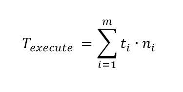 Berechnung der Ausführungszeit