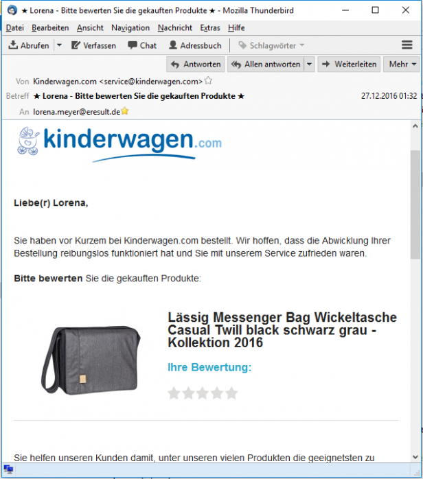 E-Mail-Kommunikation mit Kunden