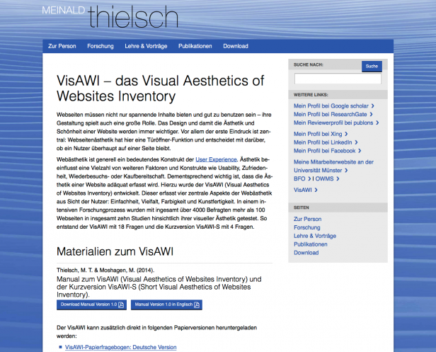 Screenshot Website M. Thiersch
