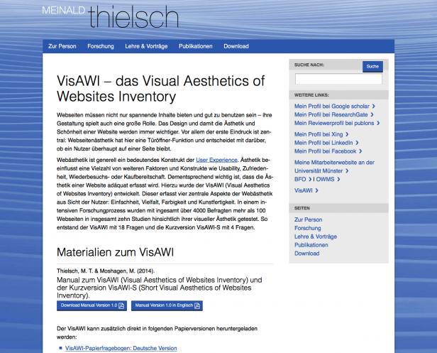 Screenshot Website M. Thiersch