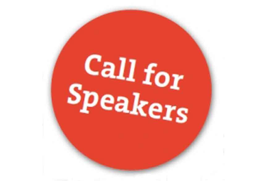 """Button mit der Aufschrift """"Call for Speakers"""""""