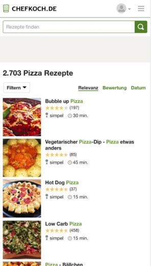 Screenshot Chefkoch.de