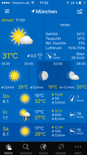 Screenshot WeatherPro