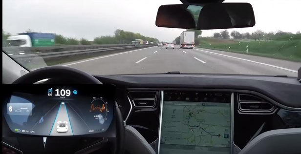 Im Tesla S ist im Display das Icon gut sichtbar.