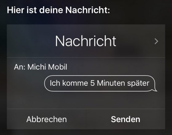 Mehrere Möglichkeiten an Siri eine Frage zu stellen